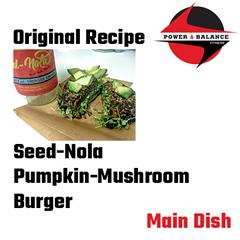 Pumpkin Mushroom Burger